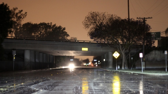 Rain, Freeway Underpass and Power Outage