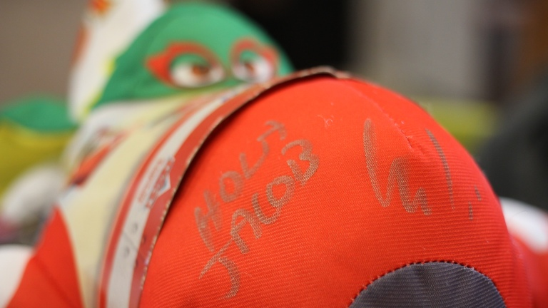 Planes' El Chupacabra Toy signed by Carlos Alazraqui for Jacob