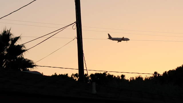 A Passing Airplane