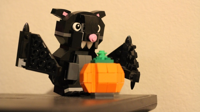 Lego Halloween Bat and Pumpkin